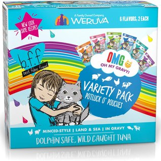 Weruva BFF OMG Variety Pack Pouches - Potluck O' Pouches 12x2.8oz