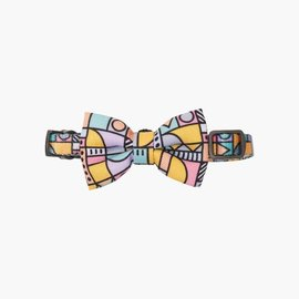 Pidan Pidan Pet Collar Abstract Grid Bowtie