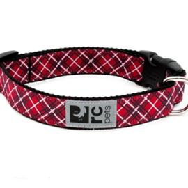 "RC Pets RC Pets Clip Collar Red Tartan M (12""-20"")"