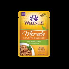 Wellness Wellness Morsels Healthy Indulgence 3 oz Pouch Chicken & Turkey