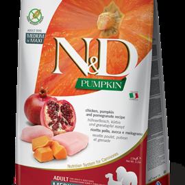 Farmina N&D Dog - Chicken, Pumpkin, & Pomegranate Adult Med/Max 5.5LB