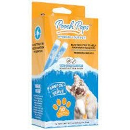 naturvet Pooch Pop Freezable Dog Hydration Treat 10 pack