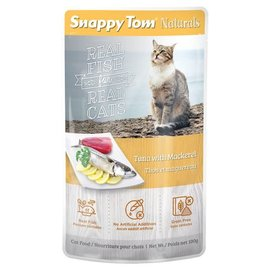 SNAPPY TOM Snappy Tom Naturals Tuna with Mackerel 100g Pouch
