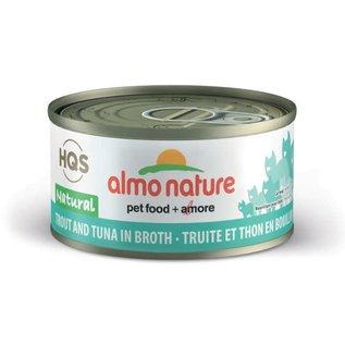 Almo Nature Almo Cat - HQS Natural Trout & Tuna in Broth 70g