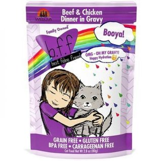 """Weruva BFF OMG Pouch - """"Booya!"""" Beef/Chicken 2.8oz"""