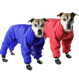 MUTTLUKS Muttluks Reversible Snowsuit Red & Blue Size 12