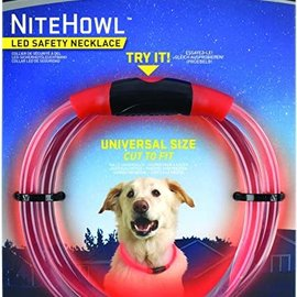 NiteHowl LED Safety Necklace in Red