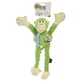 GoDog goDog™ Crazy Tug Monkey Lime Green Dog Toy