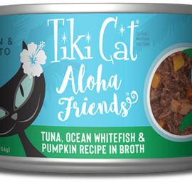 Tiki Cat Tiki Cat Aloha Friends - Tuna with Ocean Whitefish And Pumpkin 5.5oz