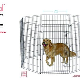 Smart Pet Love Smart Pet Love Exercise Pen 8 Panel 42in Black Extra-Large