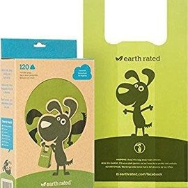 EARTH RATED POOP BAGS Earth Rated Unscented 120 Waste Bags with Handles - Pop Up Box