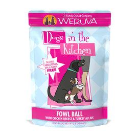 """Weruva Weruva Dogs In The Kitchen  Wet Pouch - """"Fowl Ball"""" Chicken Breast & Turkey 2.8oz"""