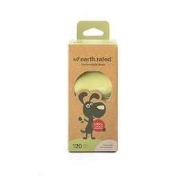 """Earth Rated Earth Rated - Compostable Bags 9""""x13"""" 120 bags"""