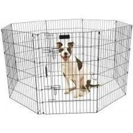 """Precision Precision Ultimate Exercise Pen with Door Black 30""""H. 8 24""""W"""