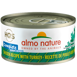 Almo Nature Almo Cat Nature HQS Complete Chicken with Turkey in Gravy Can 70g