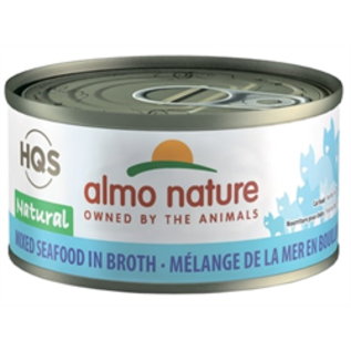 Almo Nature Almo Cat Nature HQS Natural Mixed Seafood in Broth Can 70g
