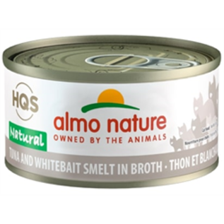 Almo Nature Almo Cat Nature HQS Natural Tuna and Whitebait Smelt in Broth Can 70g