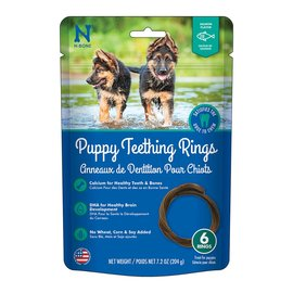N-BONE Puppy Teething Ring - Salmon Flavour - 7.2oz