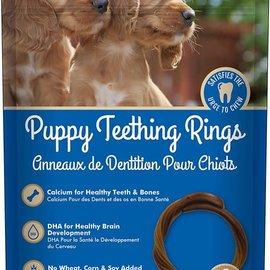 N-BONE N-BONE Puppy Teething Rings Peanut Butter 6pc