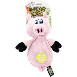 Hear Doggy! Stuffed Pig Toy with Dog Only Squeaker