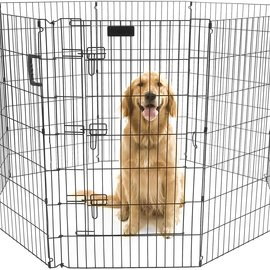 """Precision Precision Ultimate Exercise Pen with Door Black 30""""H. 42""""W"""