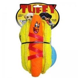 TUFFY Tuffy Hot Dog Dog Toy