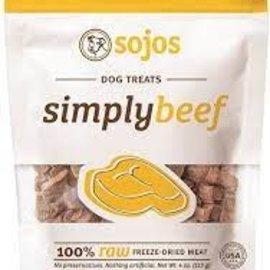 Sojos Sojos Dog Freeze-Dried Pure Beef  Treats 4oz