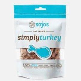 Sojos Sojos Dog Freeze-Dried Pure Turkey Treats 4oz