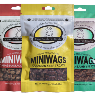 Farm Fresh Canadian Bacon Treats - Miniwags (100g)