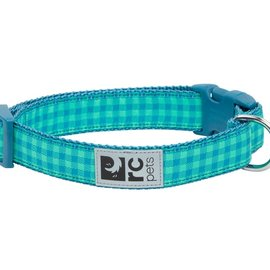 """RC Pets RC Pets Green Gingham Clip Collar Large (15""""-25"""")"""