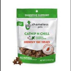 Shameless Pets Crunchy Cat Treats - Chicken Catnip Digestive Support(2.5oz)