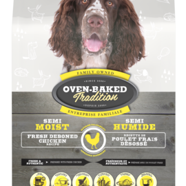 Oven Baked semi-moist-food-for-all-breed-adult-dogs-chicken