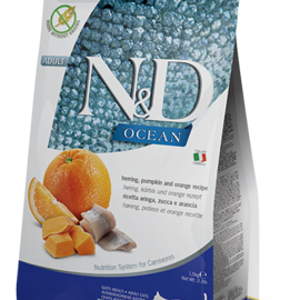 Farmina N&D Cat Dry - Ocean Herring & Orange Adult 11lbs