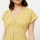 Printed Button Down Midi Dress