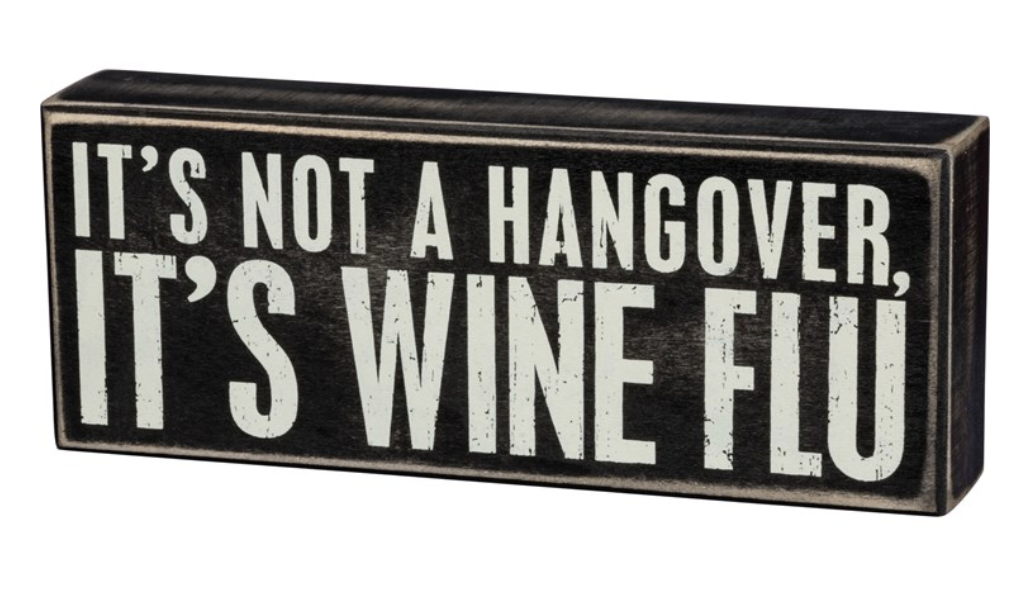 Wine Flu Box Sign
