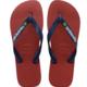 MEN'S BRAZIL LOGO FLIP FLOPS RED