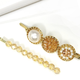 Beaded Circle Bobby Pin Set
