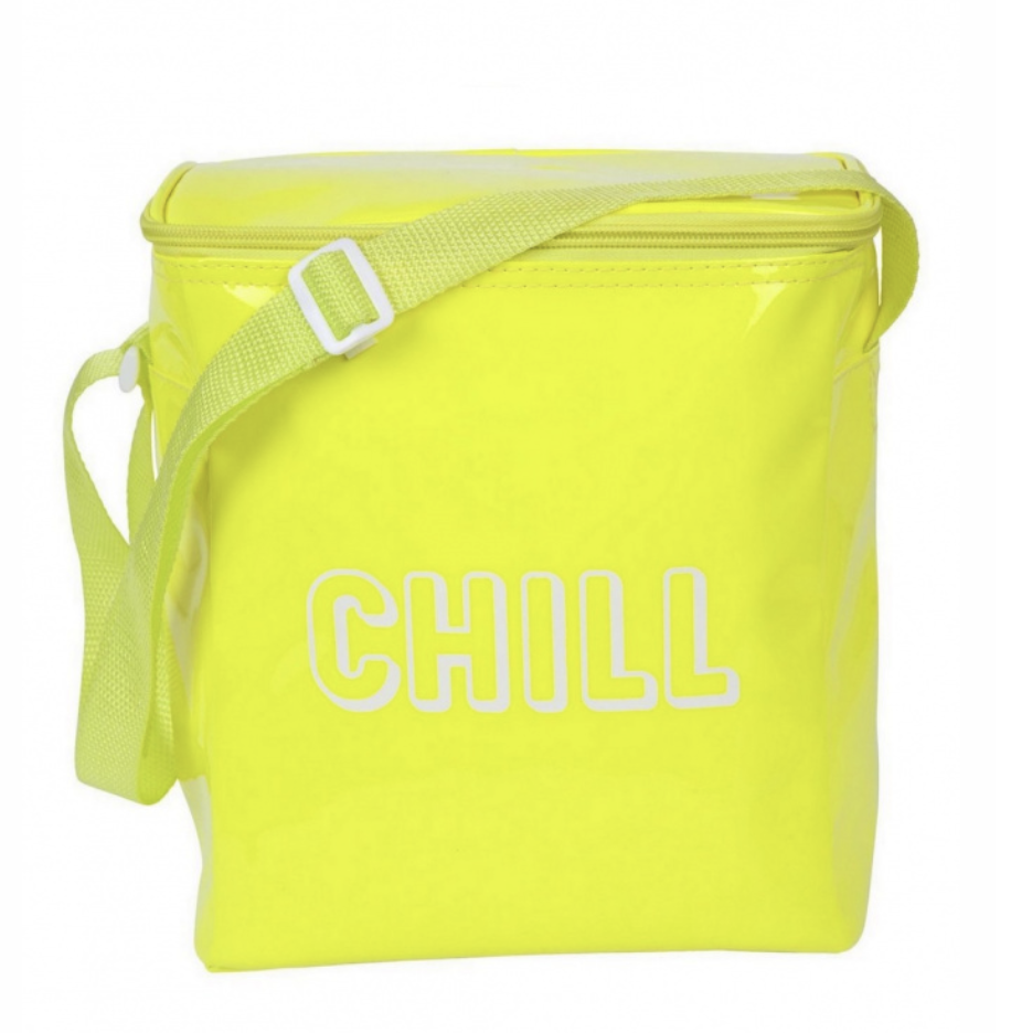 Chill Beach Cooler Bag Neon Yellow
