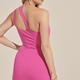 One Shoulder Twisted Dress