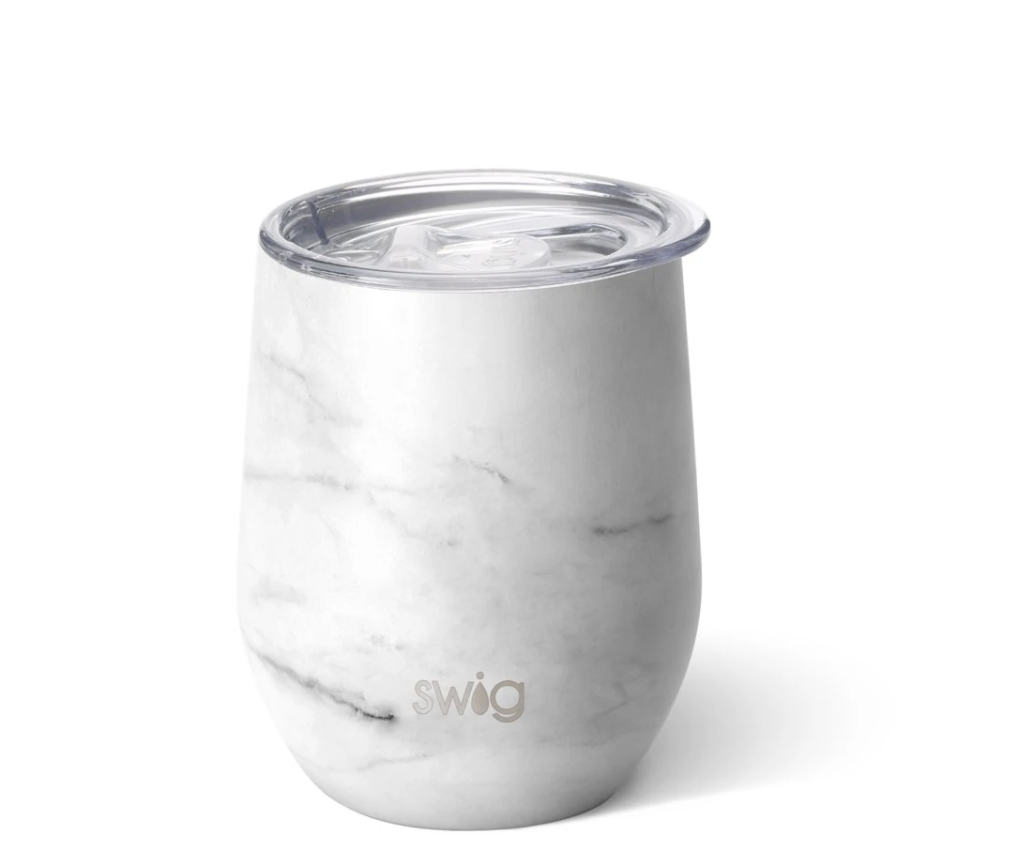 Swig 12oz Wine Cup Matte Marble