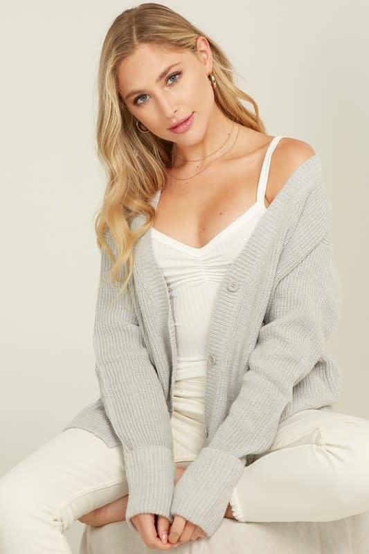 Long Fold Sleeve Sweater