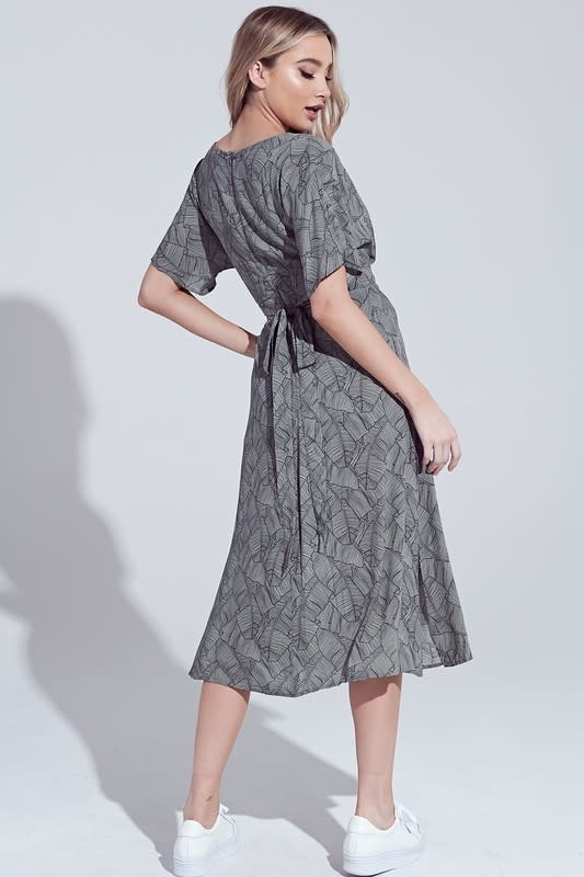 Back Tie Slit Dress