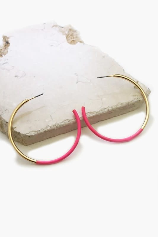 Half coated hoop earrings