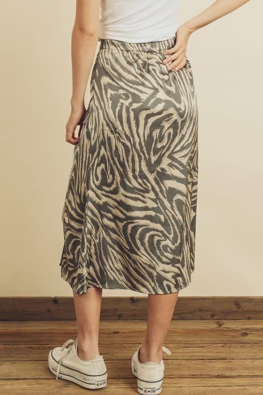 Tiger Print Slip Skirt