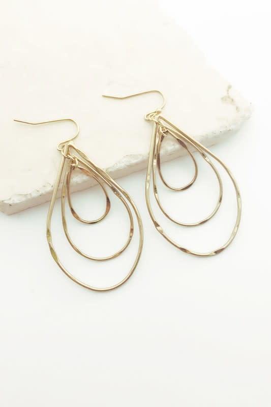 Textured Multi Teardrop Earrings