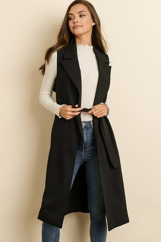 Sleeveless Trench Coat