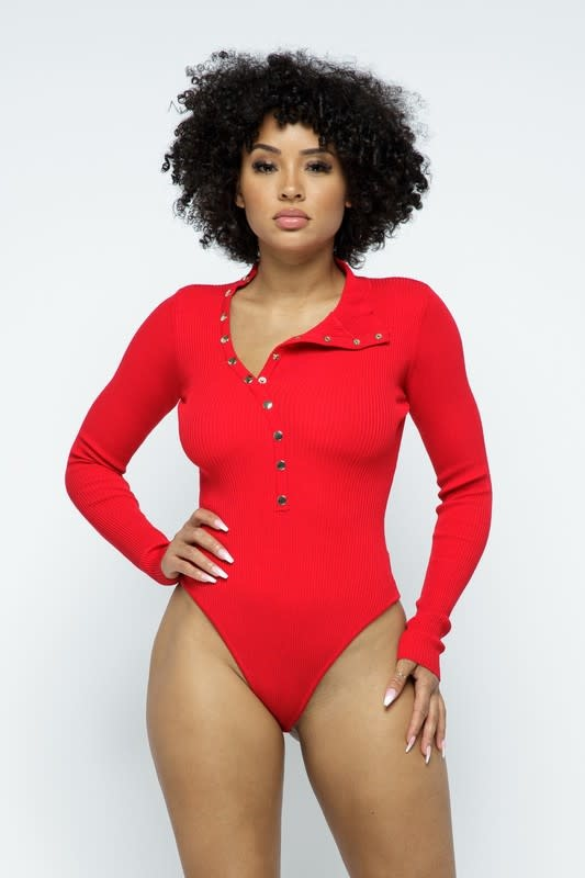 Snap Button Bodysuit