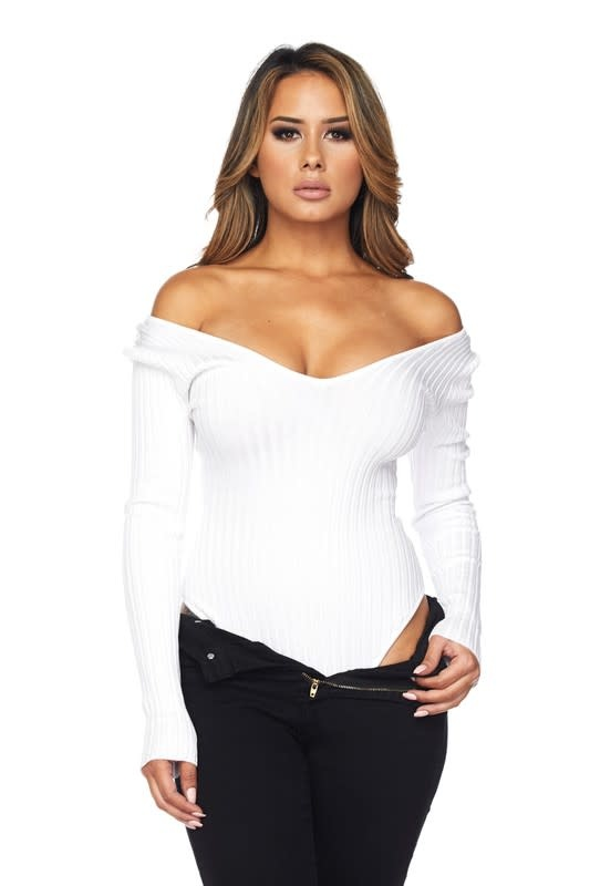 Ribbed OS Bodysuit