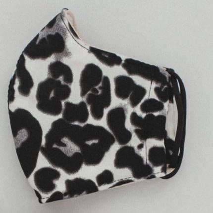 Black Leopard Face Mask