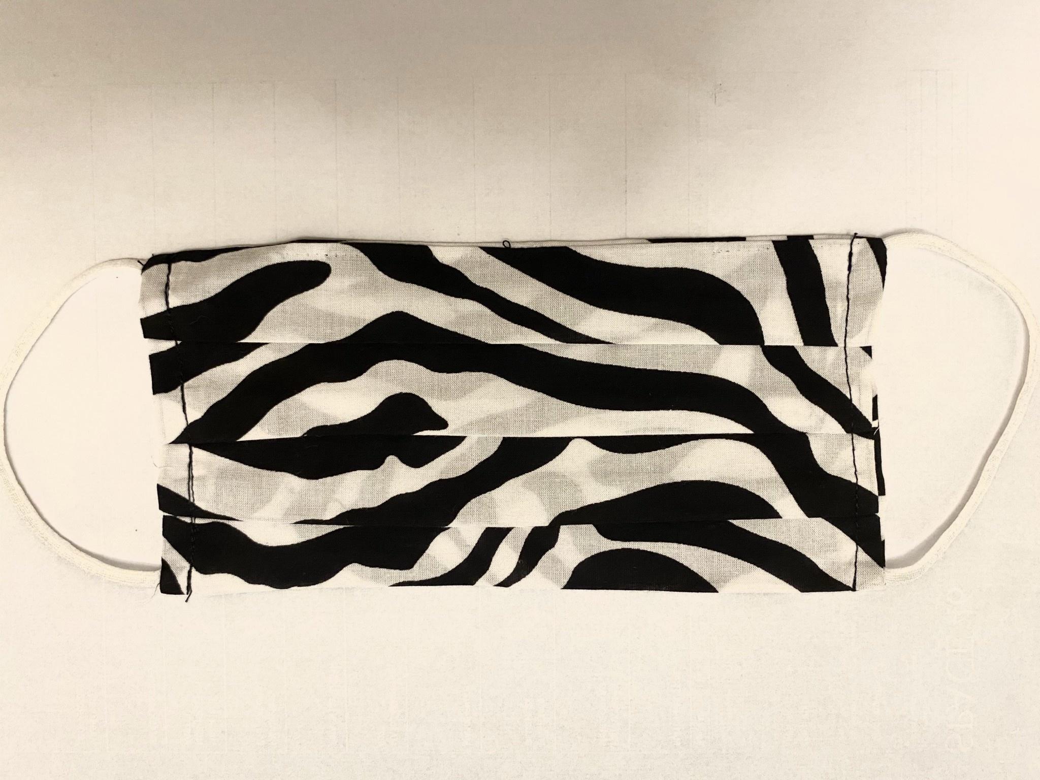 Black Zebra Face Mask